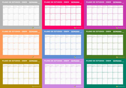 Modelo De Cronograma De Estudo Semanal Download Enembulando