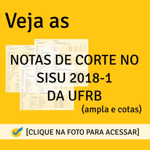 Notas de Corte SISU 2018-1 da UFRB