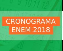Cronograma ENEM 2018