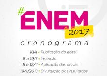 Cronograma do ENEM 2017