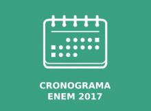 Cronograma Enem 2017
